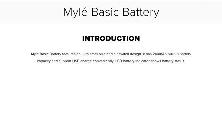 Mylé Basic Battery 240mAh