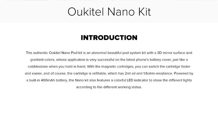 Oukitel Nano Pod System Kit 2ml & 400mAh