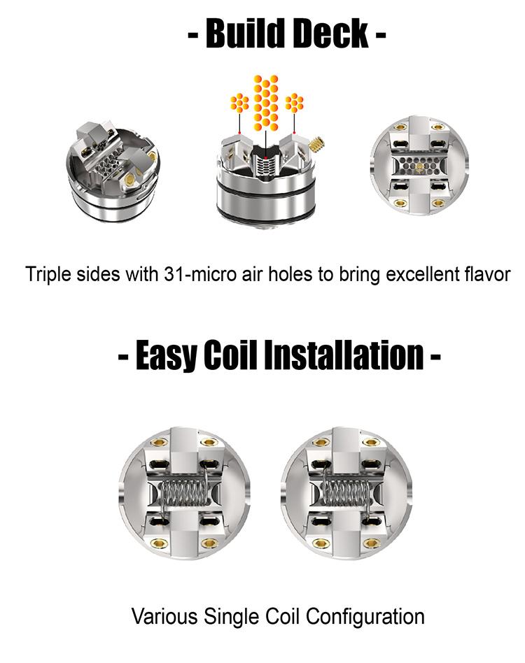 THC Tauren Solo RDA Atomizer