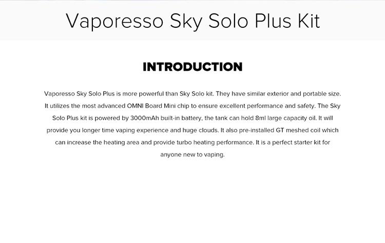 Vaporesso Sky Solo Plus Starter Kit