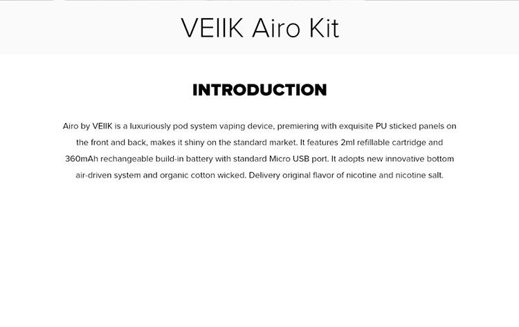 VEIIK Airo pod system kit