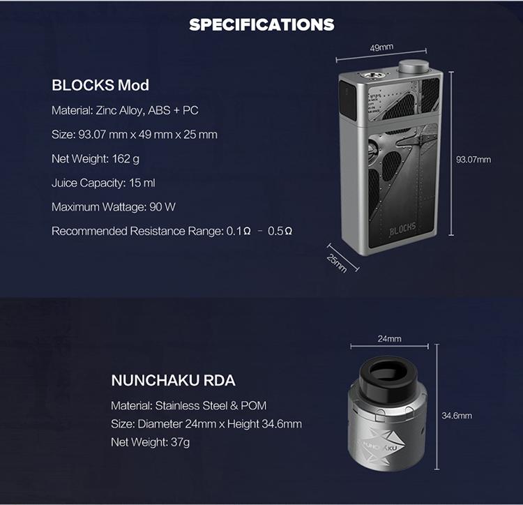 Uwell Blocks Squonk 90W Kit