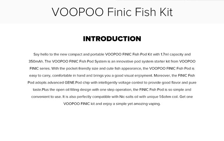 VOOPOO FINIC FISH Pod Vape Kit