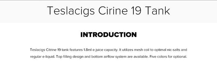 Teslacigs Citrine 19 Sub Ohm Tank