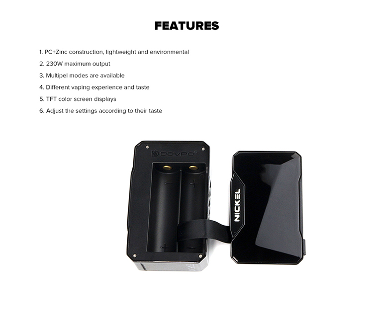 Dovpo Nickel 230W TFT Screen Box Mod