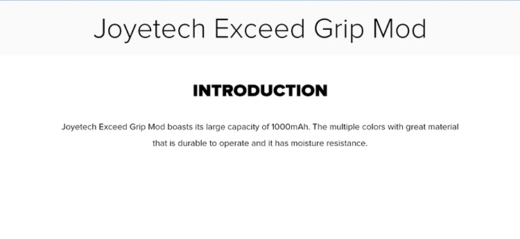 Joyetech Exceed Grip Mod 1000mAh
