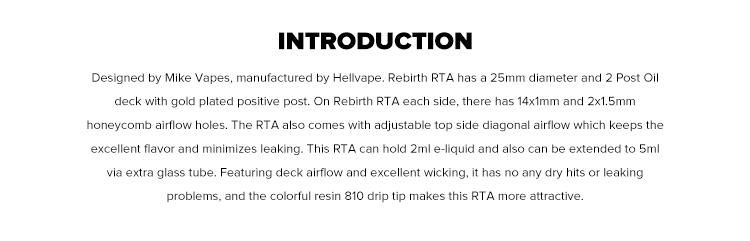 Hellvape Rebirth RTA Atomizer