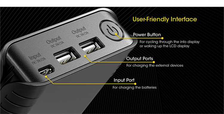 Nitecore F4 Li-ion Battery Charger