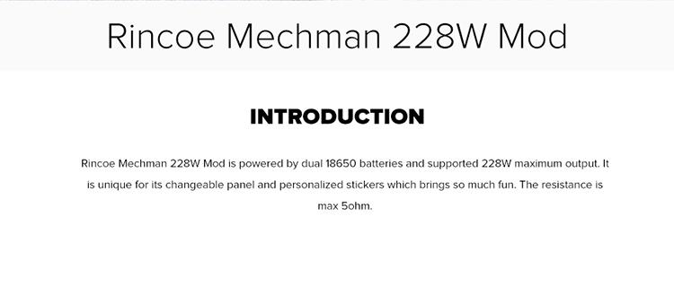 Rincoe Mechman 228W Mod