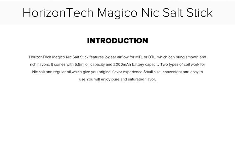 HorizonTech Magico Nic Salt Stick