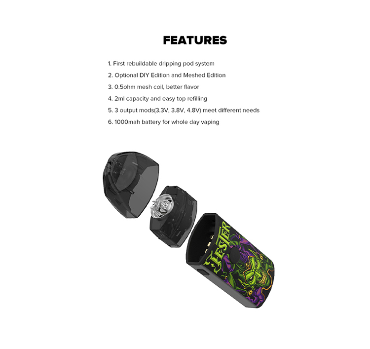 Vapefly Jester Rebuildable Dripping Pod