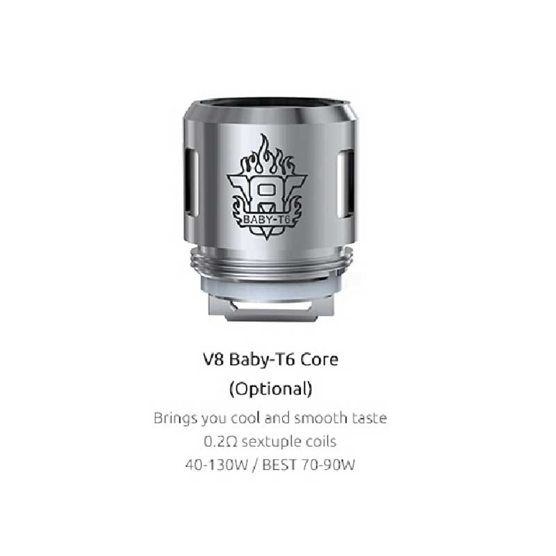 SMOK V8 Baby-T6 Core 0.2ohm Sextuple Coils for TFV8 Baby (5pcs/pack)
